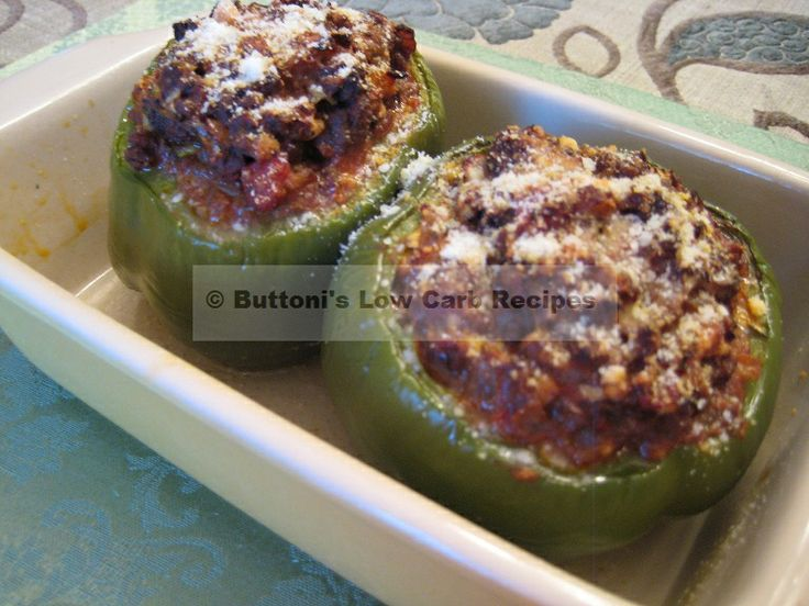 Greek Stuffed Peppers -- Buttoni's Low Carb Recipes