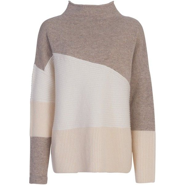 French Connection Patchwork Tonal Jumper , Classic Cream (€100) ❤ liked on Polyvore featuring tops, sweaters, classic cream, patchwork sweater, long sleeve jumper, french connection sweater, jumpers sweaters and oversized cream sweater