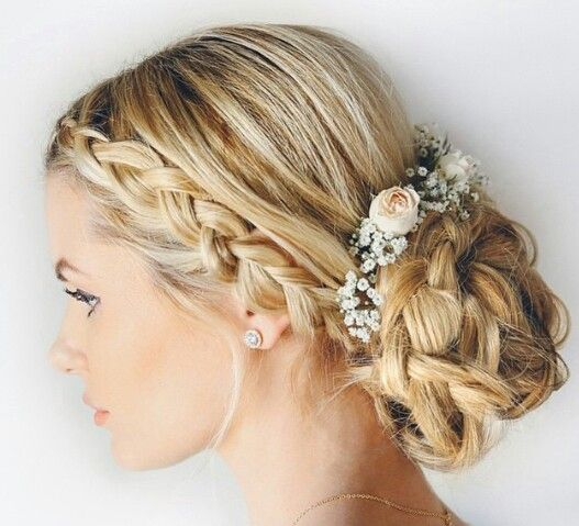 Beautiful bridal updo by blogger Amber Fillerup.
