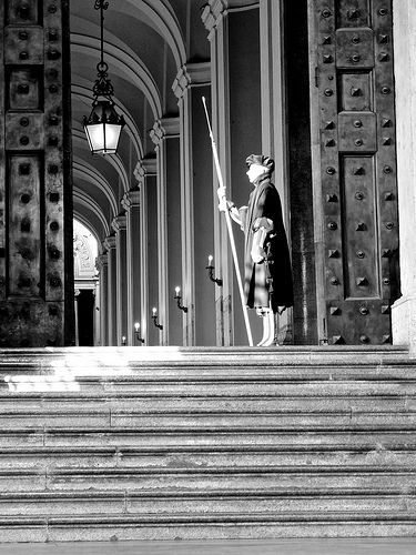 A Swiss Guard - B & W