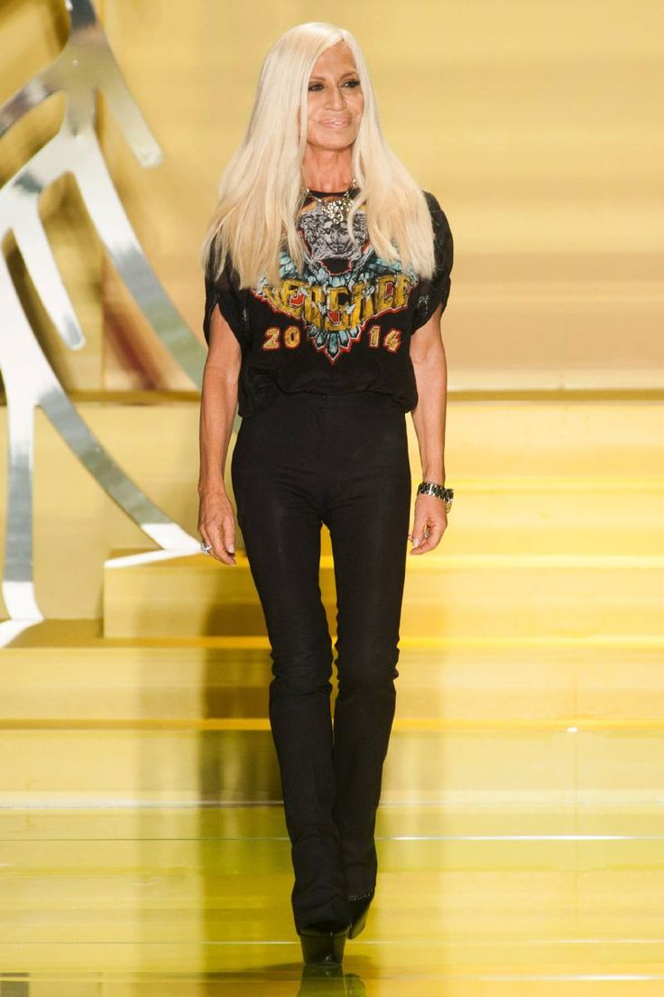 Donatella Versace, Milan. I love to see a woman at the top in the fashion industry. And I love that it was a family thing.