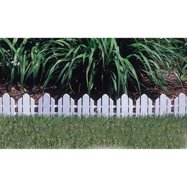 Plastic Garden Border Edging Emsco Dackers Fence Landscape White. zen garden. elitch gardens. jersey gardens. chicago botanic garden.
