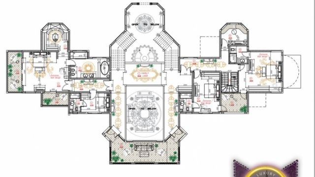 Bespoke Luxury House Plan In Dubai By Luxury Antonovich Design Luxury House Plans Luxury House House Plans