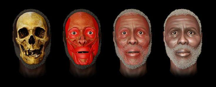 Reconstrução Facial Forense, senhor Y.  Machado & Moraes (2013): Ator Arc Team, Reconstrução Facials, Moraes 2013, Arc Team Open, Facials Forense