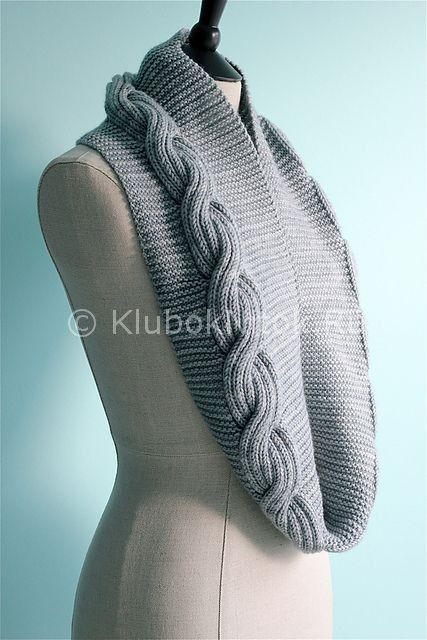 Снуд с объемной косой | Вязание для женщин | Вязание спицами и крючком. Схемы вязания.