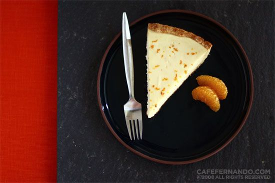 Tangerine cheesecake... Maybe I should try to make this for Steven since he loves his cheesecake! :)