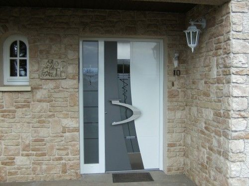 Porte d 39 entr e design contemporain maison pinterest - Lapeyre porte entree ...