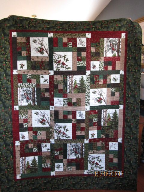 christmas quilt for my cousin
