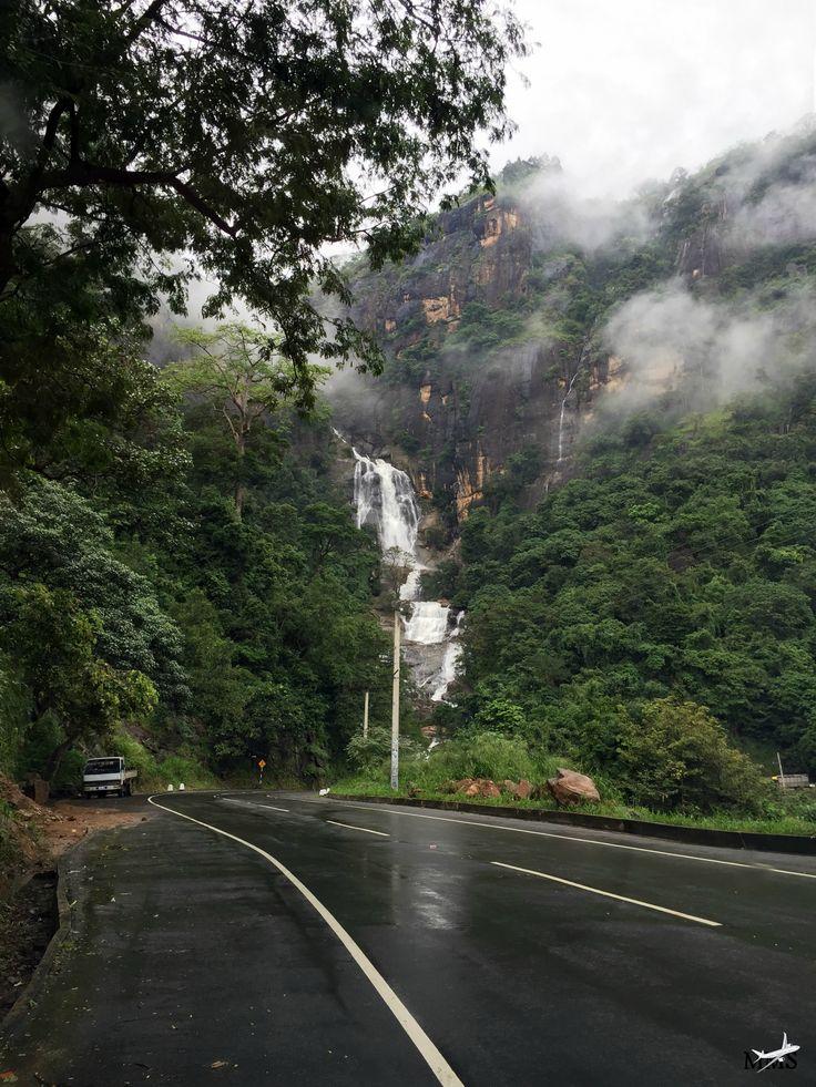 Sri-Lanka Waterfall at Ella