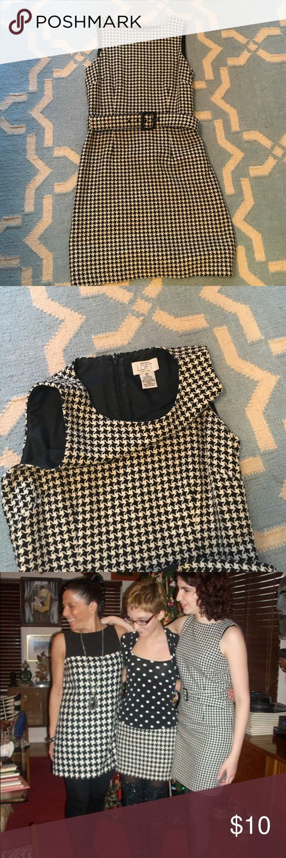Houndstooth dress Houndstooth dress, perfect for the office. LOFT Dresses Mini