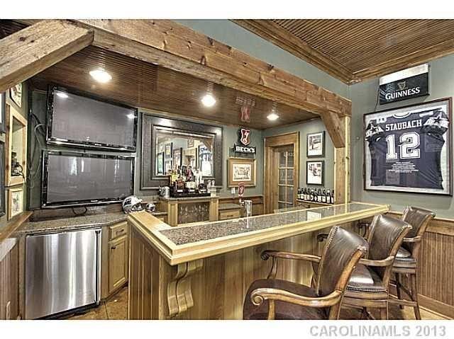 Beautiful Bar Setup In Basement