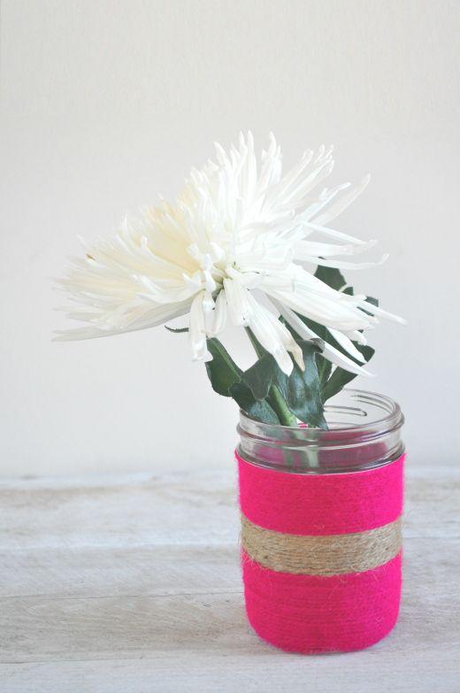 DIY twine wrapped vases tutorial -  emerald + ella blog