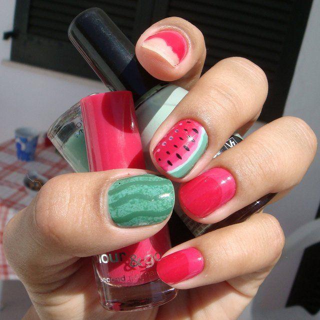 Watermelon Manicure