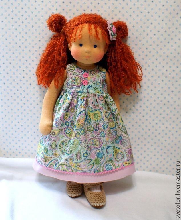 Маленькая Принцесса, 38 см - рыжий,вальдорфская кукла,вальдорфская игрушка