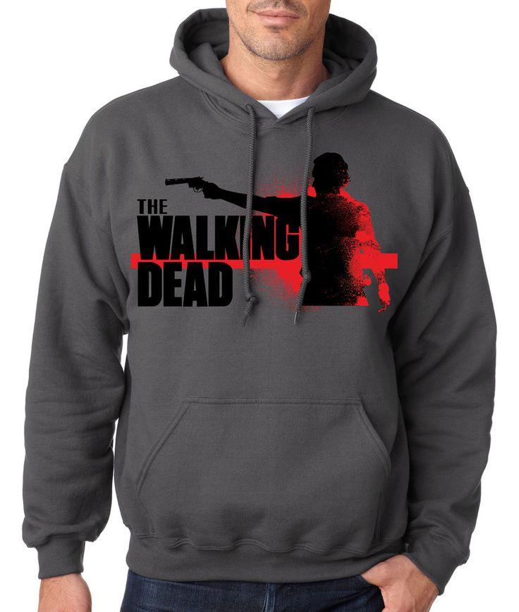 THE WALKING DEAD SILHOUETTE HOODIE Season Dead Series Zombie Sweatshirt Inside #RockCityThreads #Hoodie