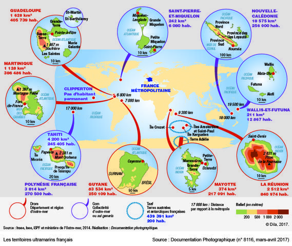 carte des territoires ultramarins français Les territoires ultramarins français | Géopolitique, Géographie