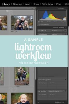 Getting a good workflow in Lightroom is essential! Click through to see a lightroom workflow example and see if you can apply it to your own editing workflow!