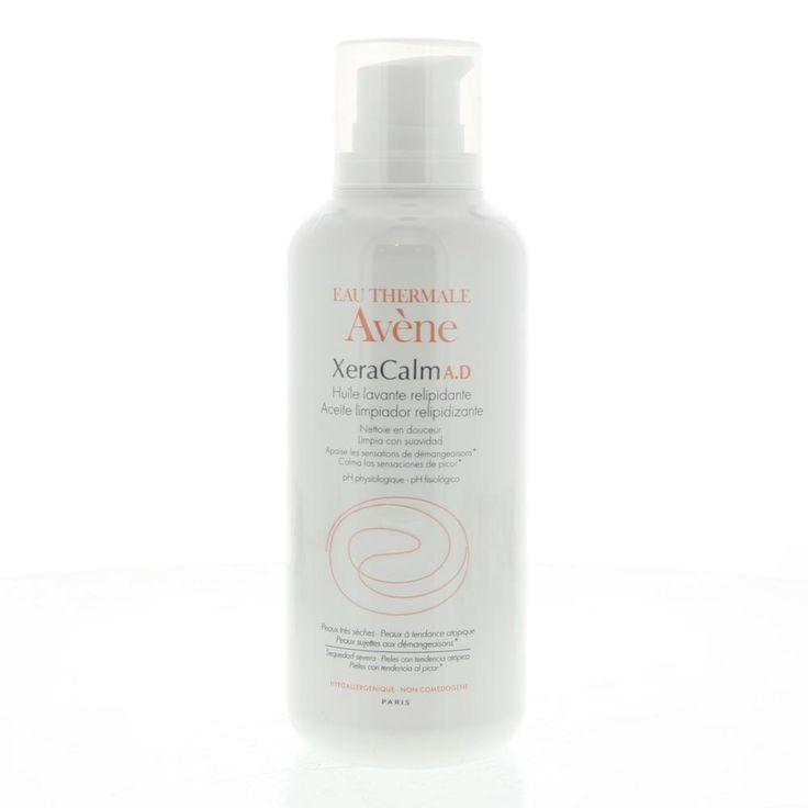 Avene XeraCalm A.D Huile Lavante Relipidante Olie Zeer Droge Huid/Atopische Huid 400ml  Description: Avène XeraCalm A.D Huile Lavante Relipidante.Een vetinbrengende douche- en badolie reinigt zonder uit te drogen. De reinigingsolie zorgt voor een zacht prettig en zijdeachtig glad gevoel op de huid. Prikt niet in de ogen bevat geen parfum en zeep. XeraCalm A.D Cleansing oil is gebaseerd op een formule waarvan de meervoudige werking berust op een actieve innovatie: I-modulia.I-modulia…