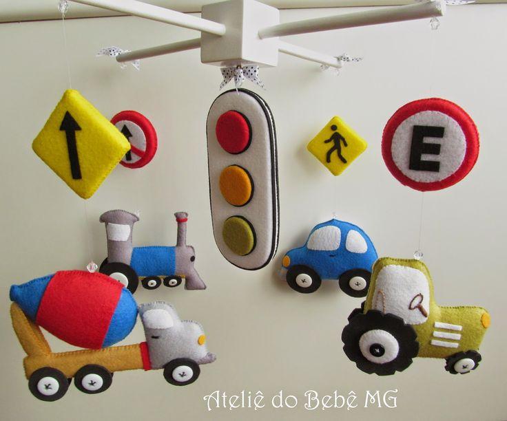 Ateliê do Bebê MG: Móbile Meios de Transportes ( Daniel )