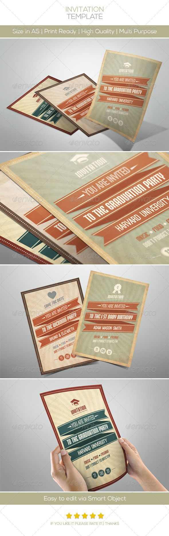 business event invitation templates%0A Retro Invitation