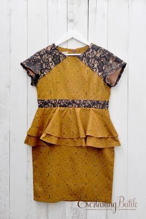 ME1804.1583 Novita Peplum Sogan Dress -XXL