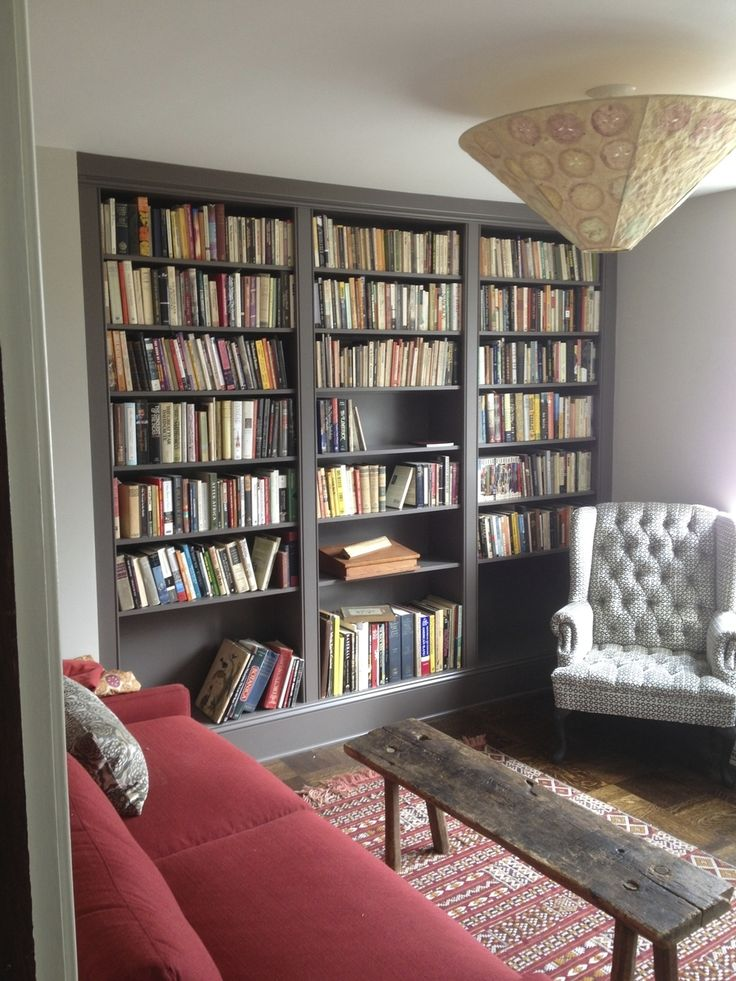 Custom Built-in Bookcases That Take Advantage Of An Underutilized Corner Of  The Room And