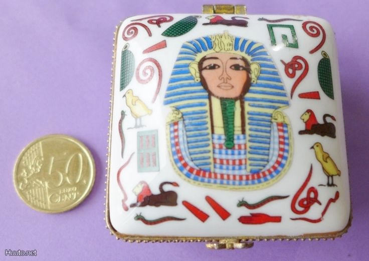 Korurasia Egypti Tutanhamon maski posliinia sievä - Huuto.net