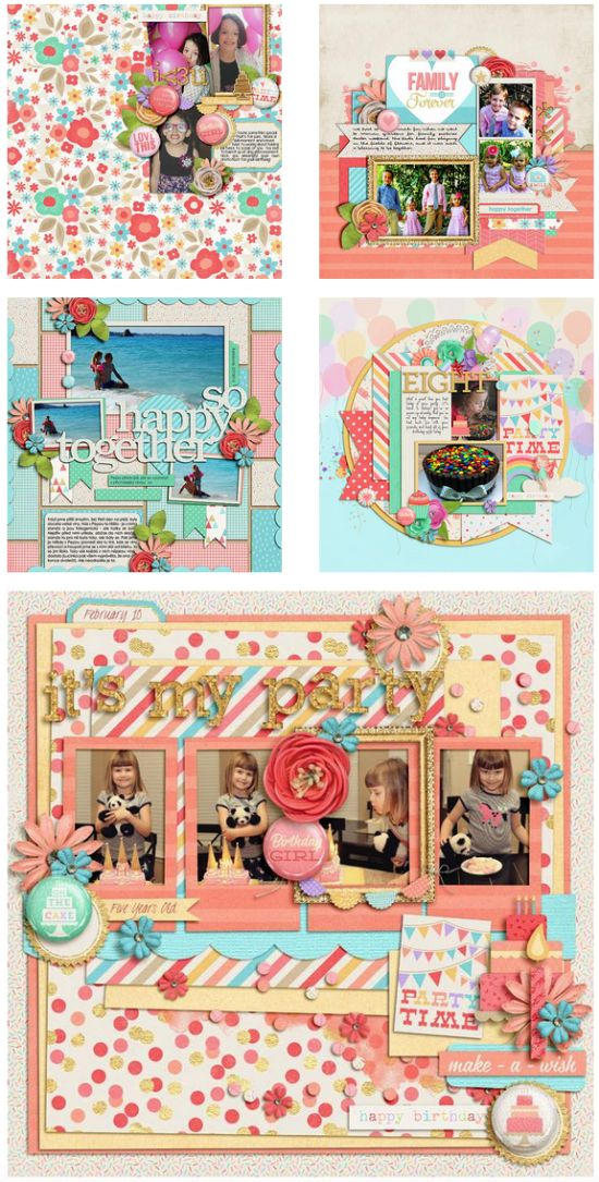 #papercraft #scrapbook #layout - It's My Party by Zoe Pearn