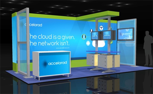 Nomadic Exhibition Stand : Accellarad s seemyradiology booth at the himss