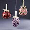 Fabric-Point Pineapple Ornaments
