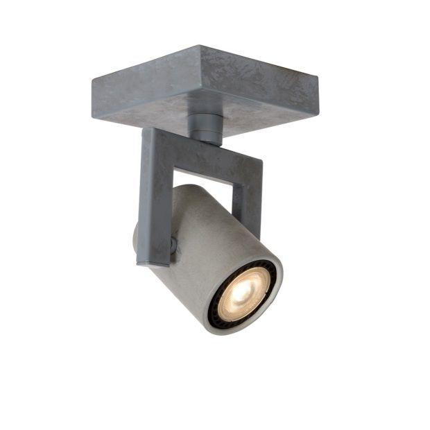 Lucide Conni Plafondlamp Led Grijs - 1 Spot - afbeelding 1