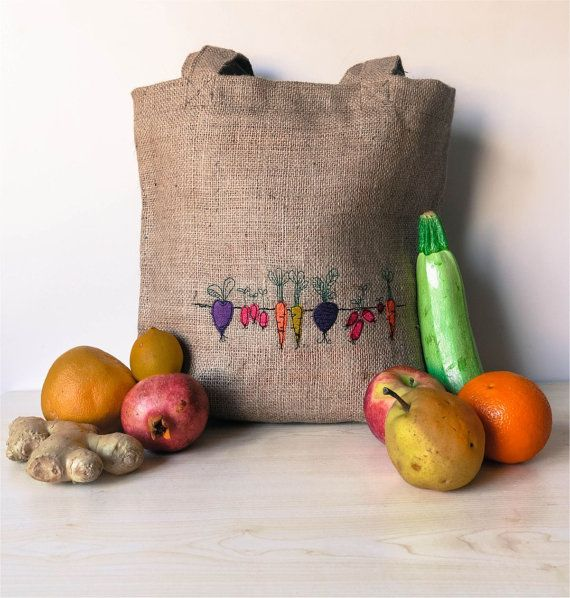 Vegetable tote  Discover our lovely collection of jewelry http://www.lissomecollection.co.uk/Accessories