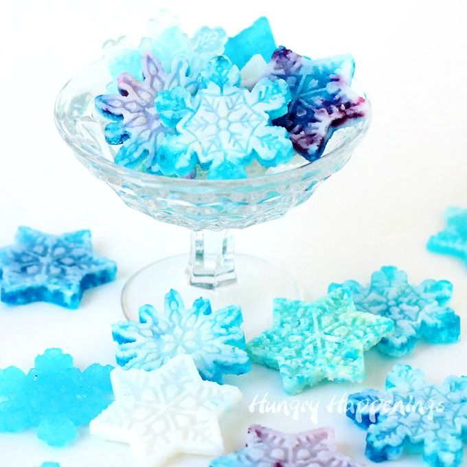 Turn store bought hard candy into beautiful snowflakes. It's easy to do. See the tutorial at HungryHappenings.com.