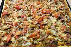 Jak upéct houbovou pizzu na plech   recept................... http://www.jaktak.cz/jak-upect-houbovou-pizzu-na-plech-recept.html