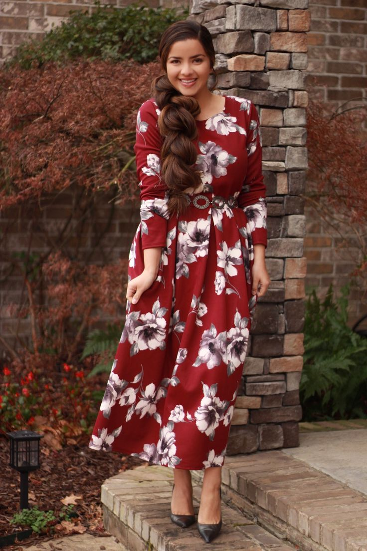 Our Adele dress is lovely! Made of thicker fabric for these chilly days!