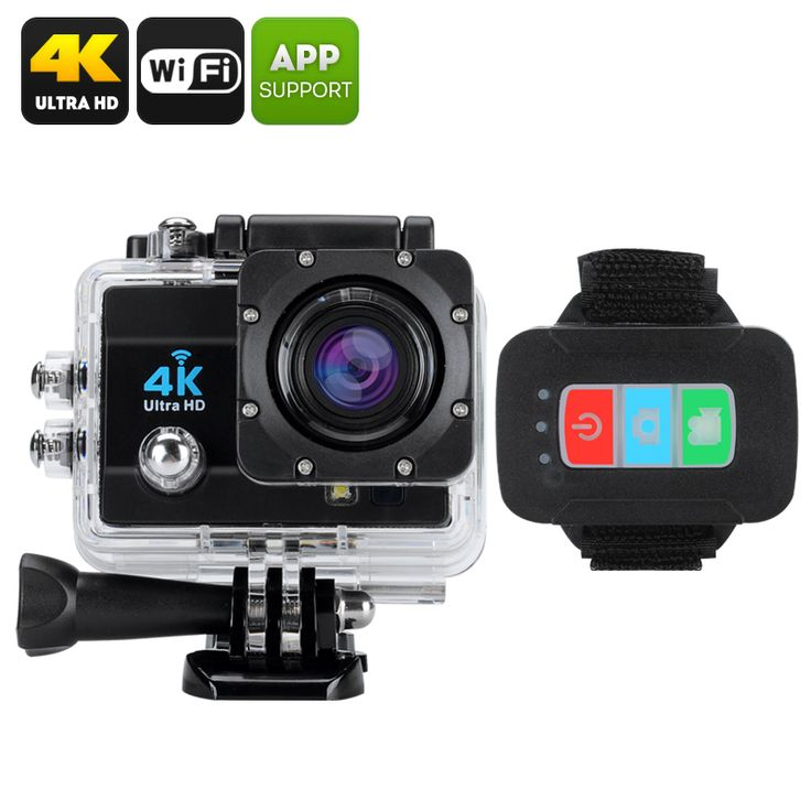 Q3H 16MP Waterproof 4K Sports Action Camera with wrist remote - SONY CMOS - Pick Pay Post