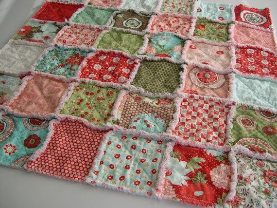 sweet rag quilt - I love its soft frayed edges