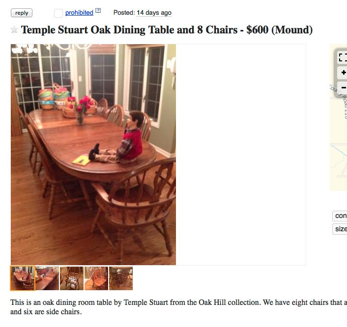 i don't want your creepy doll dining room table! | craigslist, Esstisch ideennn
