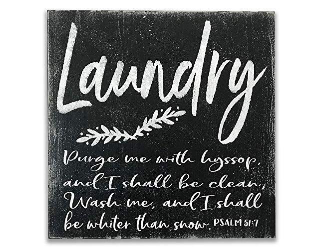 Amazon Com Handpainted Wood Laundry Room Sign Handmade