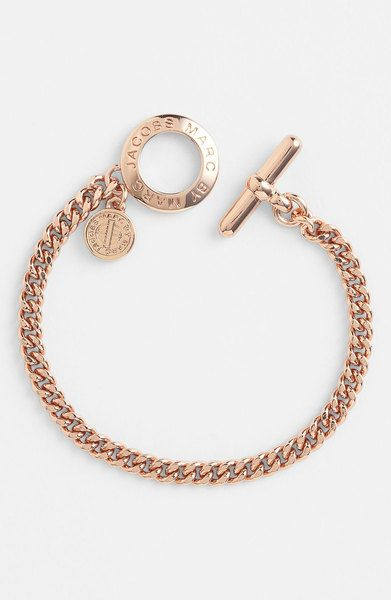 Marc By Marc Jacobs Pink Toggles Turnlocks Link Bracelet