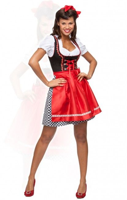 German mini dirndl 2pcs. Judy2 black 50 cm oktoberfest dirndl