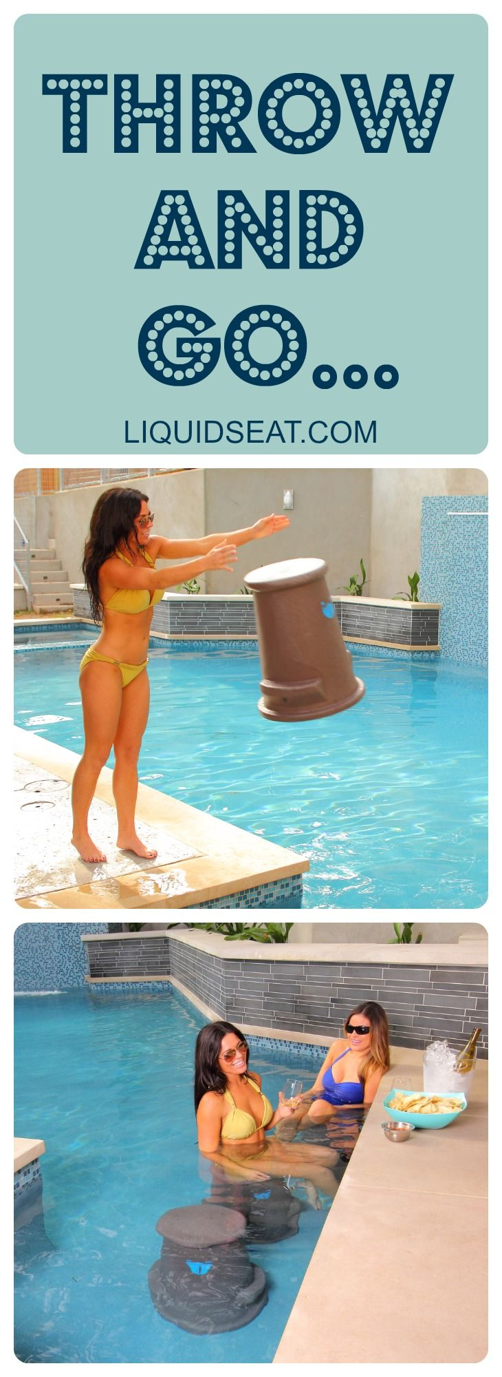 19 Best Images About Pool Seat Swim Up Bar Stool On