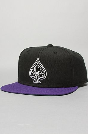 The Spades Snapback Cap in Black & Purple by Crooks and Castles http://www.karmaloop.com/product/The-Spades-Snapback-Cap-in-Black-Purple/240097