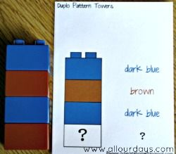 Duplo & Lego Pattern Towers Busy Bag - All Our Days