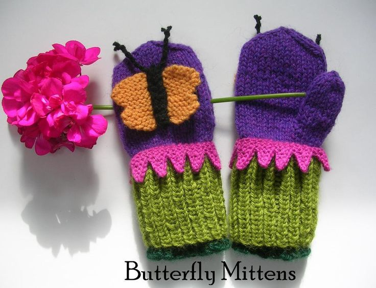 Butterfly mittens (also pattern for ladybird and bee) .SnowDayArtists Pattern Store on Craftsy | Support Inspiration. Buy Indie.