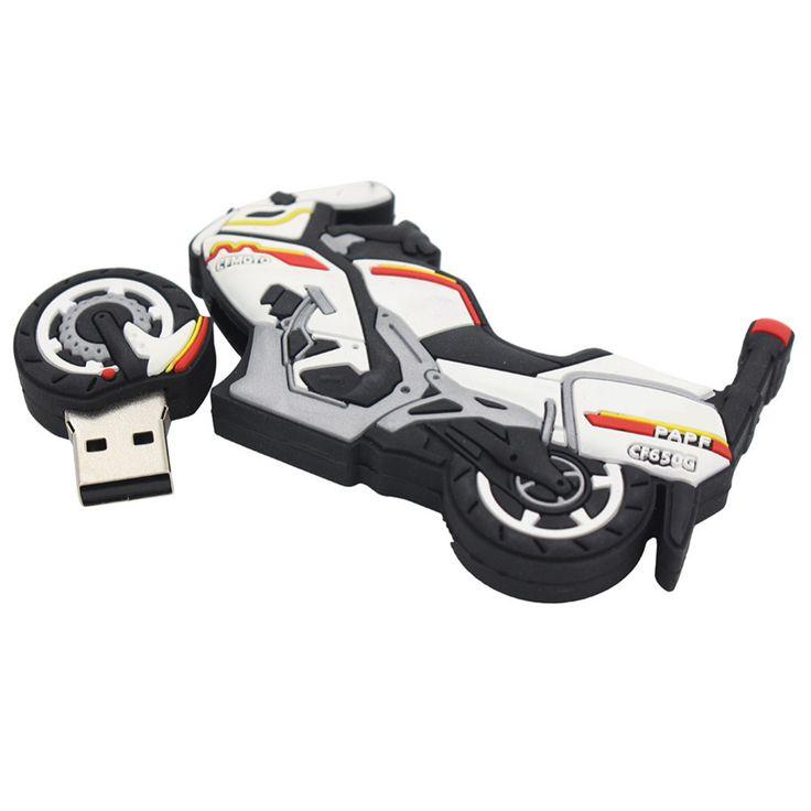 2016 new Cartoon Motorcycle styling usb flash drive l usb 2.0 memory flash stick pen drive u flash disk 4GB/8GB /16GB/32GB/64GB