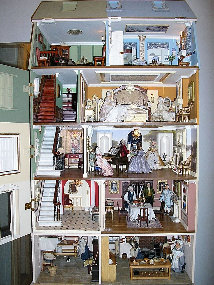 A view of the rooms  jt pic interior of Carol Anne s lovely dolls house   exterior pinned alongside  click through for close up of each room The 25  best Dollhouse interiors ideas on Pinterest   Dollhouse  . Dolls House Interiors. Home Design Ideas