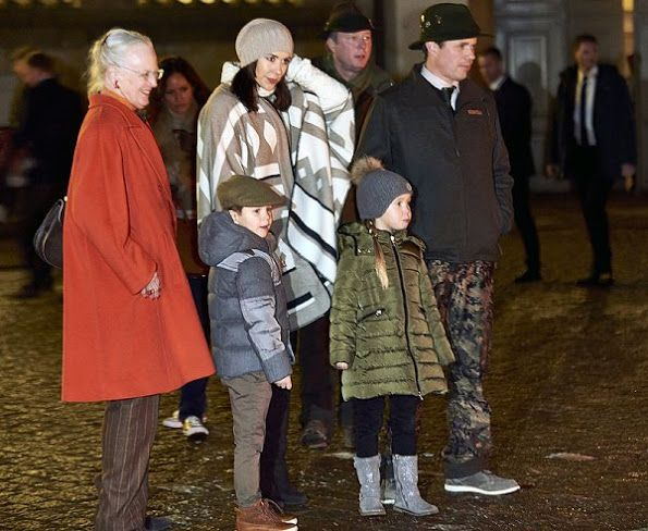 On November 22, 2016, Queen Margrethe, Crown Prince Frederik, Crown Princess Mary, Princess Josephine and Prince Vincent attended the hunting parade after the royal hunt in Grib Woods, Denmark. The hunting was at Fredensborg castle.