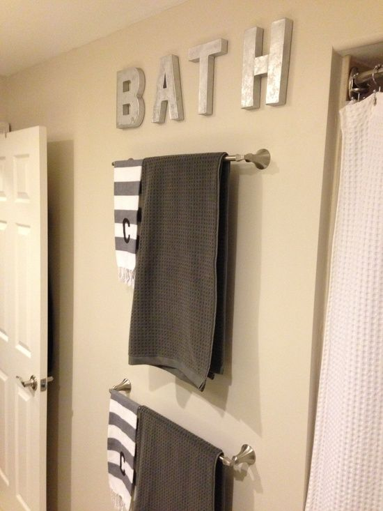 Our new bathroom! Bathroom DIY sign.