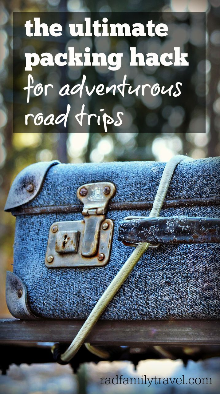 Loading the mini van for our family travels used to be frustrating until we discovered the ultimate packing hack for adventurous road trips. Pssst... it's way better than a car top carrier! Big families: you need this in your life.
